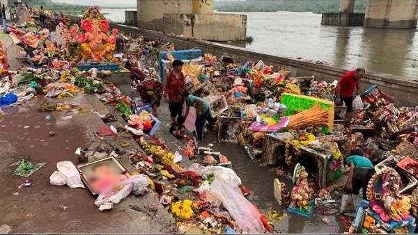 For The First Time In History Not A Single Ganesh Idol Dissolved In Sabarmati