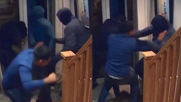 Video Brave Fought For His Wife With Four Armed Robbers