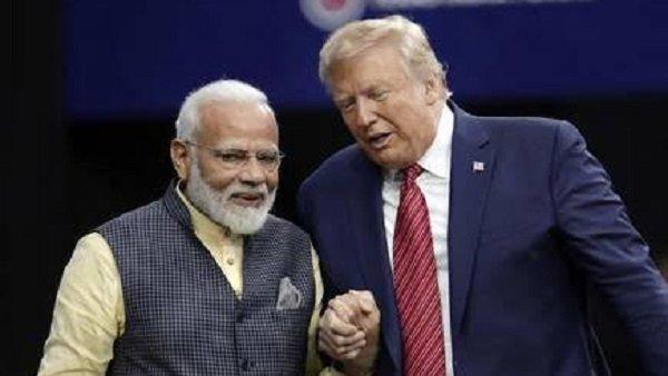 Howdy Trump In Ahmedabad Motera Stadium At 23rd February