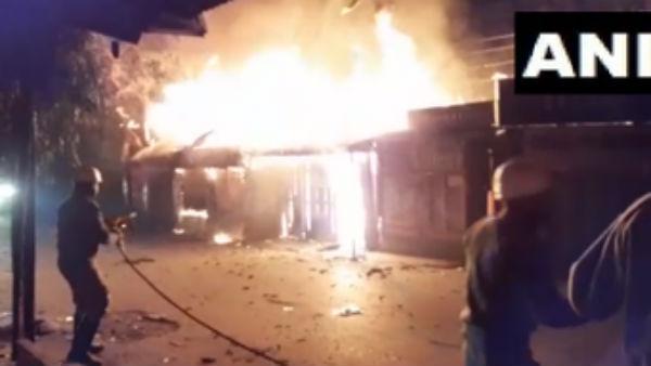 સિલિગુડીની બજારમાં લાગી ભીષણ આગ, 7 દુકાનો લપેટામાં આવી