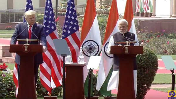 PM મોદી અને યુએસ રાષ્ટ્રપતિ ટ્રમ્પનુ સંયુક્ત નિવેદન, આતંકવાદ પર થઈ ચર્ચા