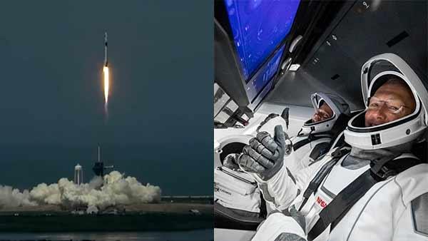 SpaceX- NASAનું હ્યૂમન સ્પેસ મિશન લૉન્ચ અમેરકાએ ઈતહાસ રચ્યો