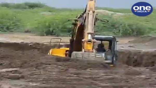 જામનગરમાં જોડિયામાં ગેરકાયદે જમીન ખનન પકડાયુ