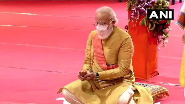PM મોદીએ મૂકી ભવ્ય રામ મંદિરની આધારશિલા, આખા દેશમાં ગુંજ્યુ 'જય શ્રીરામ'