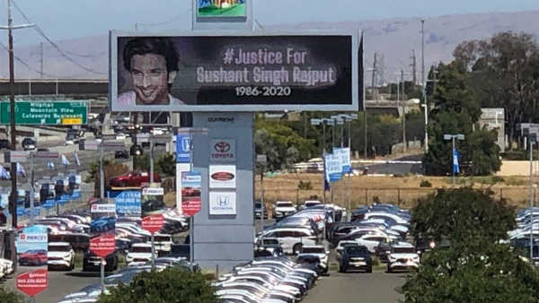 Justice For Sushant Singh Rajput Billboard In Us