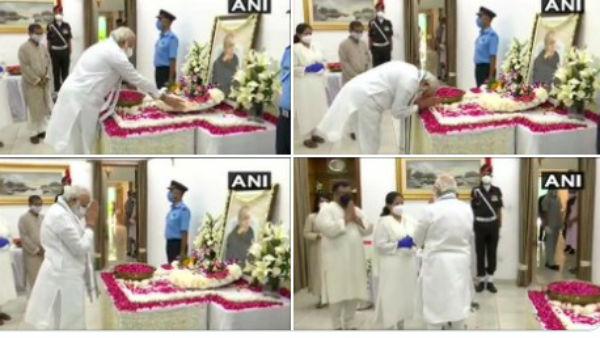 PM મોદીએ 10 રાજાજી માર્ગ જઈને પ્રણવ દાને આપી શ્રદ્ધાંજલિ