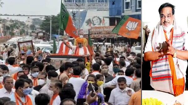 ગુજરાતઃ BJP પ્રદેશ અધ્યક્ષ સોશિયલ ડિસ્ટંસીંગની ધજિયા ઉડાવી હજારો લોકો સાથે અંબાજી પહોંચ્યા