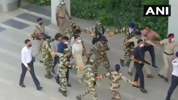 Video: Y શ્રેણીની સુરક્ષામાં મુંબઈ આવી રહી છે કંગના રનોત