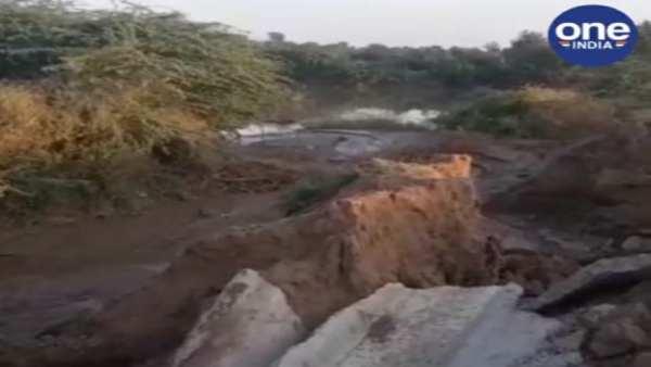 પાટણ: શિયાળુ પાક લેવાના સમયે અસામાજીક તત્વોએ તોડી દીધી કેનાલ