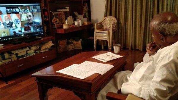 PM મોદીની આગેવાનીમાં શરૂ થઇ સર્વદળીય બેઠક, પૂર્વ પીએમ એચડી દેવગૌડા પણ થયા શામેલ