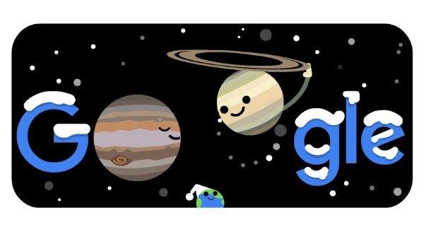 800 વર્ષ બાદ એકદમ નજીક હશે ગુરુ-શનિ, Googleએ બનાવ્યુ Doodle