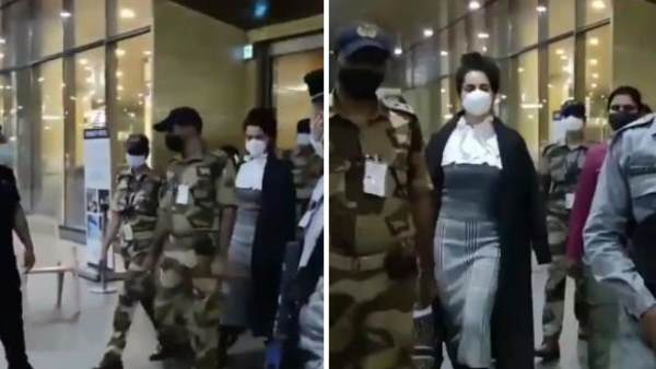 VIDEO: ફૂલ સિક્યોરિટી સાથે મુંબઈ પાછી આવી કંગના રનોત