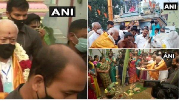 Pongal 2021: ચેન્નઈ પહોંચેલા RSS પ્રમુખ મોહન ભાગવતે કાદુમ્બડી  મંદિરમાં કરી પૂજા