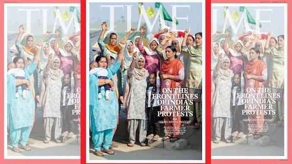 TIME મેગેઝીનના કવર પર દેખાઈ ખેડૂત આંદોલનમાં શામેલ મહિલાઓ, ટેગ લાઈન છે - 'મને ડરાવી કે ખરીદી નહિ શકાય'