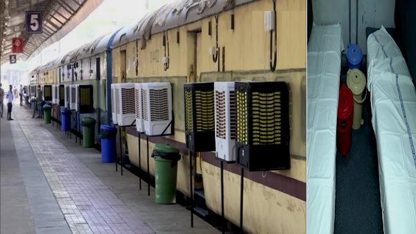 કોરાનાથી સૌથી વધુ પ્રભાવિત અમદાવાદમાં રેલવે કોચ બન્યા કોવિડ કેર સેન્ટર, હવે દર્દીઓ થઈ શકશે ભરતી