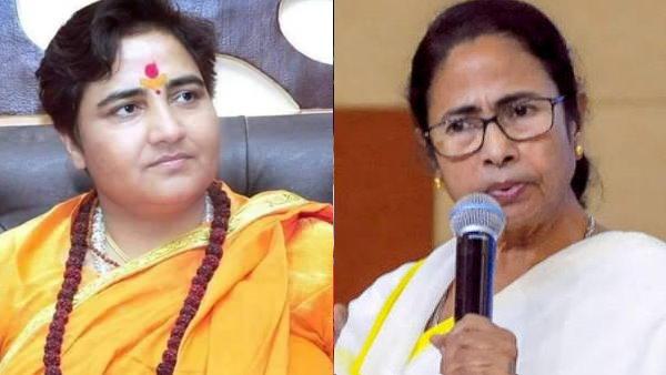 BJP સાંસદ પ્રજ્ઞા ઠાકુરે મમતા બેનરજીને કહ્યાં તાડકા, કલંકીની