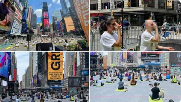 International Yoga Day 2021: ન્યૂયૉર્કમાં શાનદાર રીતે મનાવાયો યોગ દિવસ, ટાઈમ્સ સ્કવેરમાં 3000 લોકોએ કર્યા યોગ
