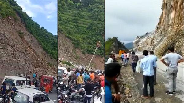 ચંદીગઢ-મનાલી હાઇવે પર ભૂસ્ખલન, વાહનવ્યવહાર ઠપ્પ