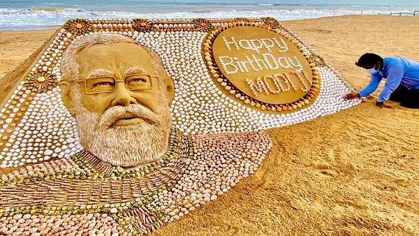 આર્ટિસ્ટ સુદર્શન પટનાયકે PM મોદીને પાઠવી જન્મદિવસની શુભકામના, કહ્યુ - ભારત માતાની સેવા માટે દીર્ઘાયુ મળે