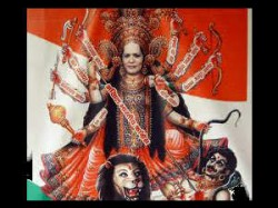 Poster Controversy Sonia Personified As Goddess Durga