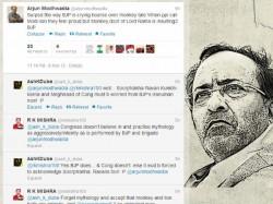 Arjun Modhwadia Tweets Monkey Was Doot Of Lord Rama