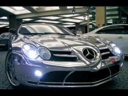 White Gold Mercedes Benz Slr Mclaren