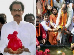 Family Immerses Ashes Of Bal Thackeray In Mumbai