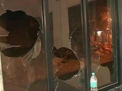 Attacked On Bmc Office In Worli