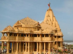 Businessman Donate Gold Platter To Somnath Temple