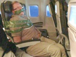 Man Duct Taped To Airline Seat After Drunken Rampage