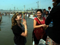 Foreign Devotees In Maha Kumbh