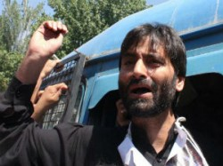 Yasin Malik Detained At Srinagar Airport