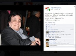 Gujarat Congress Party Gave Homage To Kadar Khan In Fb