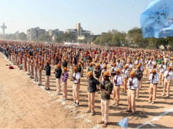 Two Crore Children Create Surya Namaskar Record