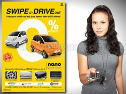 Swipe Credit Card Drive Tata Nano