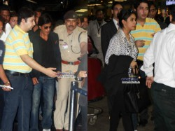 Shahrukh Khan Leaves For Toifa Awards 2013 Ipl