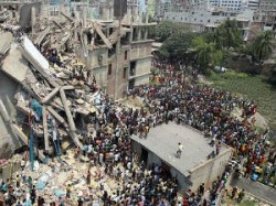 Eight Storey Building Collapses Near Bangladesh