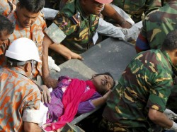 Woman Found Alive 17 Days After Collapsed Factory
