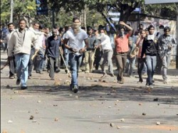 Telangana Supporters Students Protest Rally