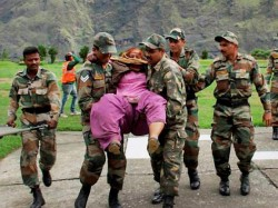 Army Carry Rescue Work At Flood Hit Places
