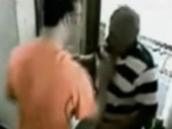 Cctv Footage Of Aditya Pancholi Slapping His Neighbour