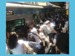 Passengers Lift 32 Ton Train Car Save Woman S Life In Tokyo