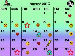 Monthly Predictions Of August 2013 In Astro Calendar