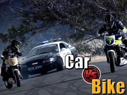 Motorcycle Vs Car Drift Battle