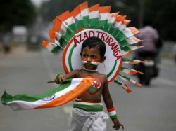 Indian Tricolor Flag Expression Different Style