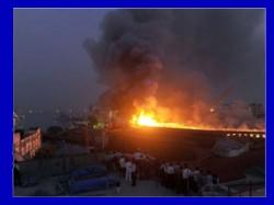 Navy Submarine Catches Fire At Naval Dockyard In Mumbai