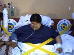 Bizarre Saudi Man Weighing 600 Kg Forklifted To Hospital