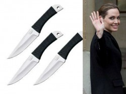 Angelina Jolie Have 1000 Knives Its A Hobby