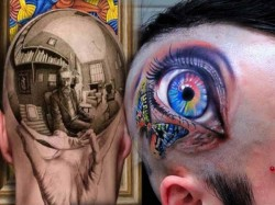 d Tattoo Means Three Dimensional Pic On Human Body