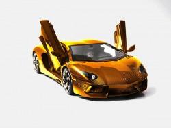 Gold Lamborghini Aventador Robert Gulpen